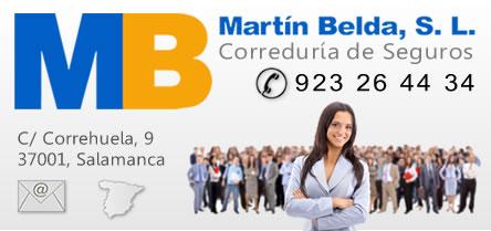 Seguros Salamanca. Correduria de seguros Marntin Belda, S.L. Tf. 923 26 44 34, Salamanca. Seguros automovil vida hogar industria comercio accidentes salud.